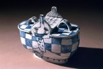 Pot with lid 1980 by Stephen Benwell
