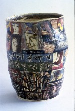 Large vase 1984 by Stephen Benwell