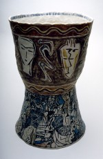 Large vase 1988 by Stephen Benwell