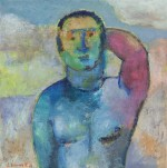painting, male nude, arm raised 2007 by Stephen Benwell